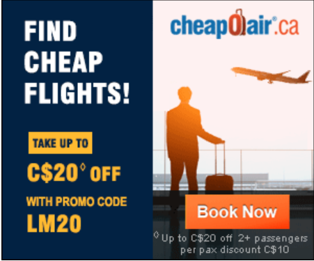CheapOair - Airline Tickets -Cheap Last Minute Flights! Take up to $20 off